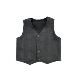 Gilet | Checkered Dark Grey | Handmade