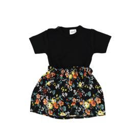 Basic Shirt | Rokje Floral Black
