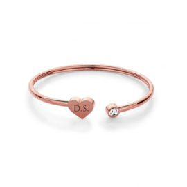 Heart Bracelet | Personalized | Rosé Gold