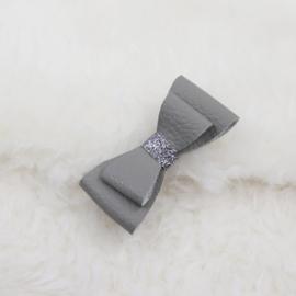 Hair Clip | Leather Grey