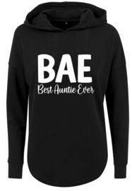 Baggy Woman Hoodie | Best Auntie Ever | Black