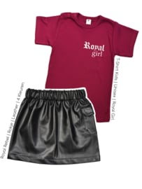 Outfit Deal   Shirt Royal Girl & Imitatie leren rokje