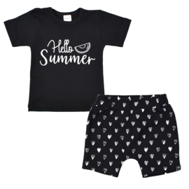 Shirt Hello summer | Shorts Monochrome Hearts