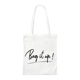 Canvas tas - Bag it up! - Wit