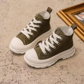 Hoge Vetersneaker | Army Green