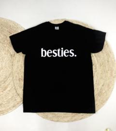 SS | T-Shirt  | Zwart/Wit | Besties | XL