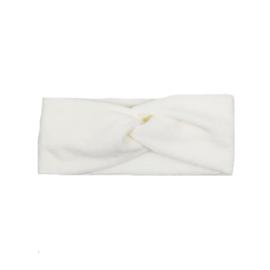 Headband Twist | Mini Rib | Whisper White | Handmade