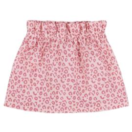 Paperbag Rokje | Leopard Pink | 62/68 | ***