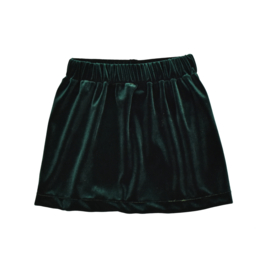 Skirt | Velvet | Emerald Green | Handmade