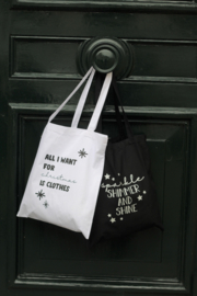 Canvas tas | All I want for Christmas is Clothes