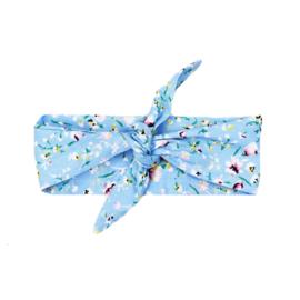 Haarband | Flowerprint Light Blue | Handmade