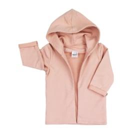 Hoodie Cardigan | Blush | Handmade