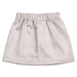 Skirt | Suede | Sand | Handmade