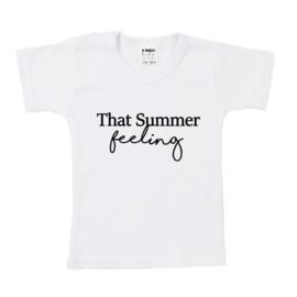 Shirt   That Summer Feeling   Wit/Zwart   80   KORT   SS