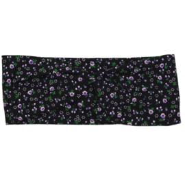 Headband Twist | Mini Flower | Black | Handmade