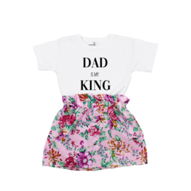 Shirt Dad is my King | Rokje Floral Pink