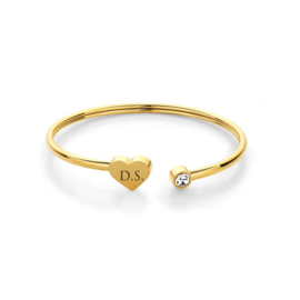 Heart Bracelet | Personalized | Gold
