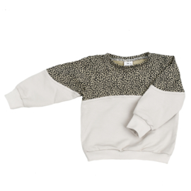 Exclusieve Sweater 2-colour | Baby Cheetah & Buttercream