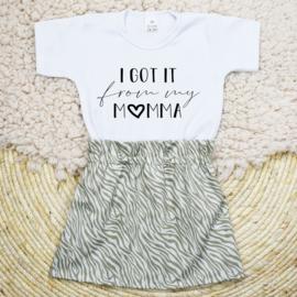 Shirt Got it from my Momma | Rokje Cotton Zebra