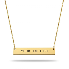Bar Necklace | Personlaized | Gold