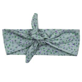 Headband | Mini Flower | Old Green | Handmade