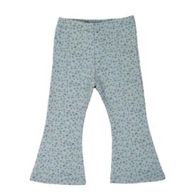 Flared pants | Mini Flower | Old Green | Handmade