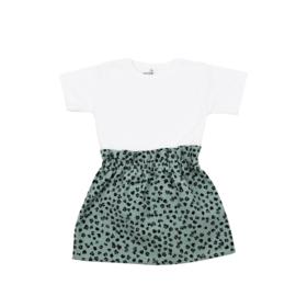 Basic Shirt | Rokje Leopard Old Green