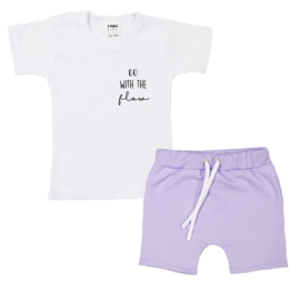 Shirt Go With the Flow | Shorts with strings | 7 Colors