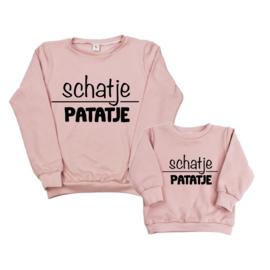 Twinning set - dames sweater & baby sweater - Schatjepatatje
