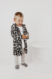 Hoodie Cardigan  | Creamy Leopard | Handmade