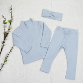 Girl Clothing Set   Turtleneck + Legging   Ice Blue