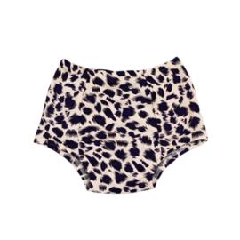 Exclusive Baby Highwaist Swimmingpants | Leopard Bluish Purple | Handmade