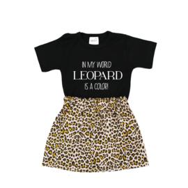Shirt Leopard is a Color | Rokje Leopard Beige