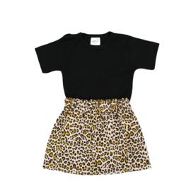 Basic Shirt | Rokje Leopard Beige