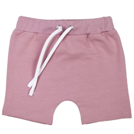 Shorts with laces | Shadow Mauve | Handmade