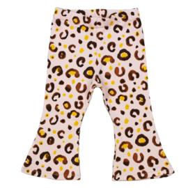 Flared pants | Leopard Baby Rose | Handmade