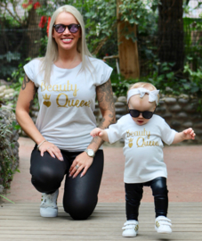 Twinning set | damesshirt & babyshirt | Beauty Queen