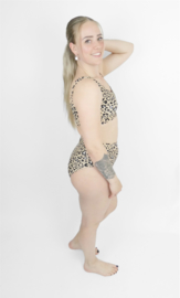 Exclusieve Dames Highwaist Bikini (Sport) | Leopard | Handmade