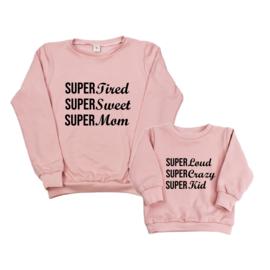 Twinning set - dames sweater & baby sweater - Super (gepersonaliseerd)