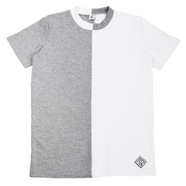 Divide T-Shirt Kids | Unisex | Grey/White