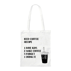 Canvas tas - Iced Coffee