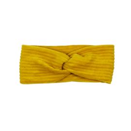 Headband Twist | Corduroy Ochre | Handmade