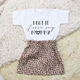Shirt Got it from my Momma | Rokje Leopard Taupe
