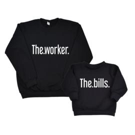 Twinning set - heren sweater & baby sweater - The Worker & The Bills