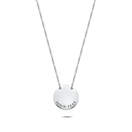 Coin Necklace | Personalized | Silver