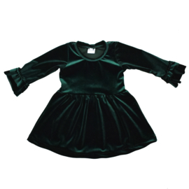 Dress Deluxe | Velvet | Emerald Green | Handmade
