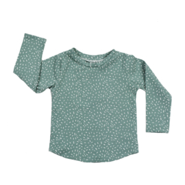 Long Sleeve | Sprinkles Chalk Green | Handmade