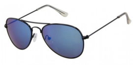 Zonnebril | Cool Kid | Black (Blue Revo) | 3 tot 12 jaar