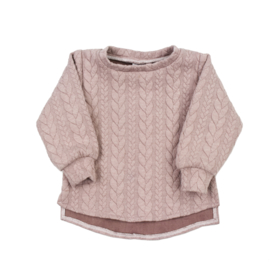 Sweater | Cable | Misty Rose | Handmade