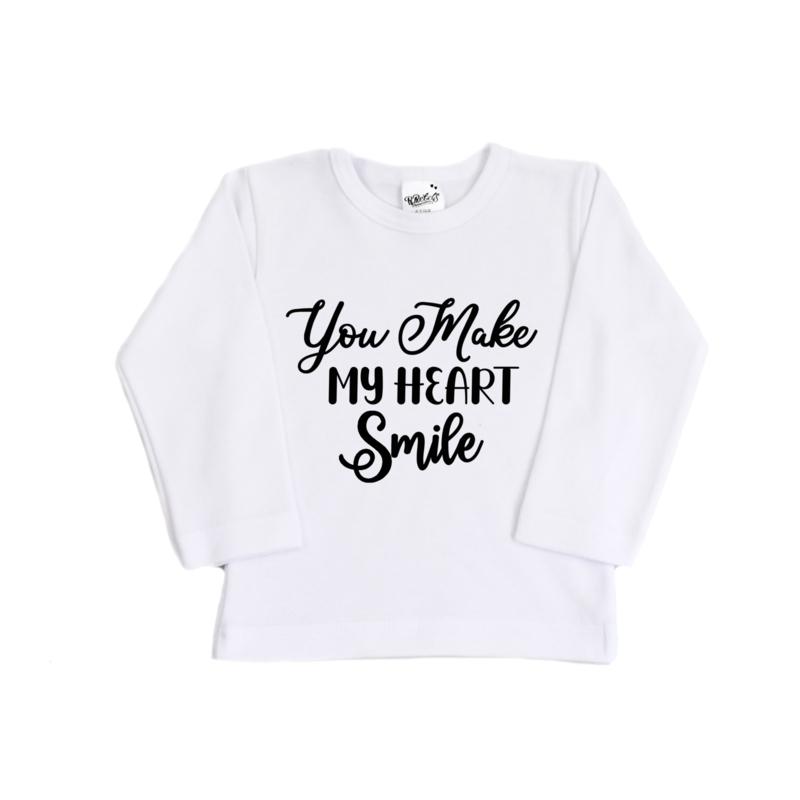 Shirt | You make my heart smile